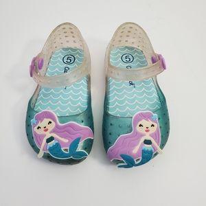 Cat and Jack Kids Mermaid Jelly Sandals Sz5